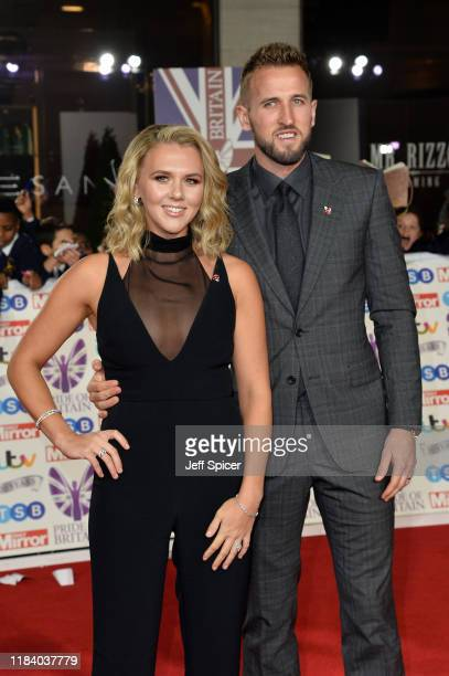 Harry Kane and Kate Kane attends Pride Of Britain Awards 2019 at The Grosvenor House Hotel on October 28 2019 in London England