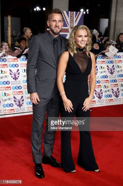 Harry Kane and Katie Goodland attend Pride Of Britain Awards 2019 at The Grosvenor House Hotel on October 28 2019 in London England