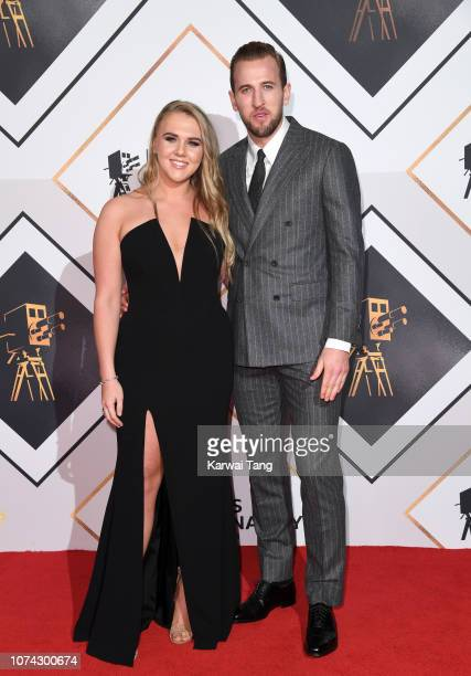 Harry Kane and Katie Goodland attend the 2018 BBC Sports Personality Of The Year at The Vox Conference Centre on December 15 2018 in Birmingham...
