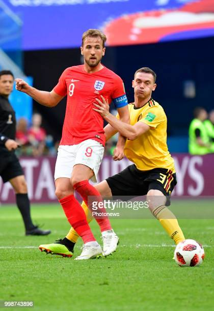 Harry Kane forward of England Thomas Vermaelen defender of Belgium during the FIFA 2018 World Cup Russia Playoff for third place match between...