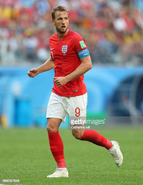 Harry Kane of England during the 2018 FIFA World Cup Russia 3rd Place Playoff match between Belgium and England at Saint Petersburg Stadium on July...