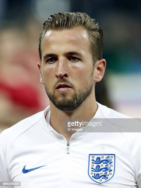 Harry Kane of England during the 2018 FIFA World Cup Russia Semi Final match between Croatia and England at the Luzhniki Stadium on July 01 2018 in...