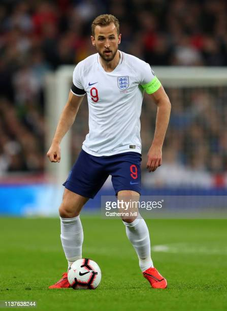 Harry Kane of England during the 2020 UEFA European Championships Group A qualifying match between England and Czech Republic at Wembley Stadium on...