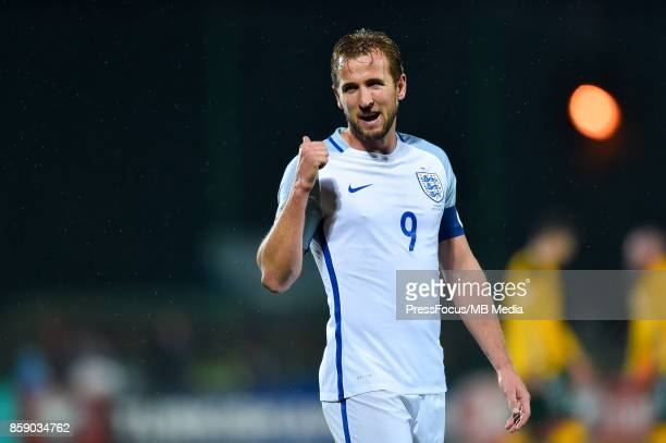 Harry Kane of England during the FIFA 2018 World Cup Qualifier between Lithuania and England on October 8 2017 in Vilnius Lithuania