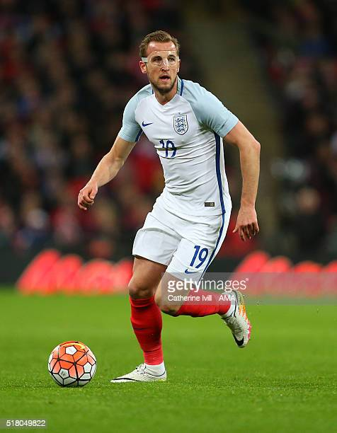 Harry Kane of England during the international friendly between England and Netherlands at Wembley Stadium on March 29 2016 in London England