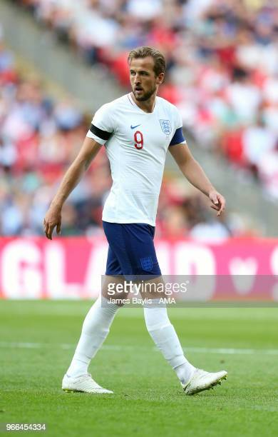Harry Kane of England during the International Friendly between England and Nigeria at Wembley Stadium on June 2 2018 in London England