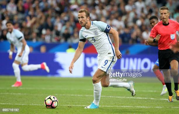 Harry Kane of England during the international friendly match between France and England at Stade de France on June 13 2017 in SaintDenis near Paris...