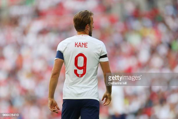 Harry Kane of England during the International Friendly match between England and Nigeria at Wembley Stadium on June 2 2018 in London England