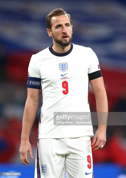 Harry Kane of England during the UEFA Nations League group stage match between England and Iceland at Wembley Stadium on November 18, 2020 in London,...