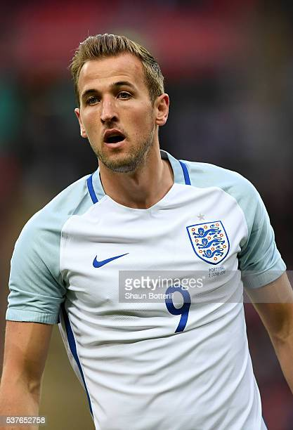 Harry Kane of England in action during the international friendly match between England and Portugal at Wembley Stadium on June 2 2016 in London...