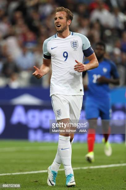 Harry Kane of England in action during the International Friendly match between France and England at Stade de France on June 13 2017 in Paris France