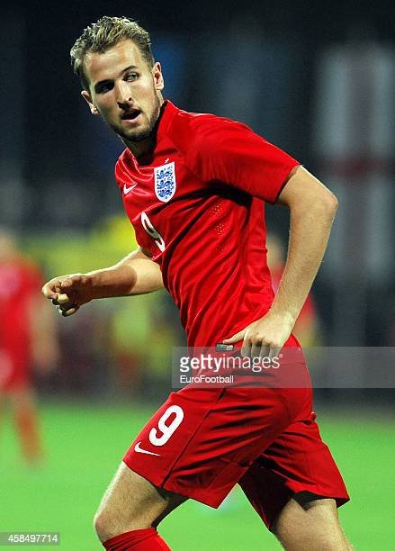 Harry Kane of England in action during the UEFA U21 Championship Playoff Second Leg match between Croatia and England at the Stadion Hnk Cibalia on...