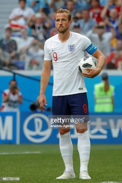 Harry Kane of England is seen during the 2018 FIFA World Cup Russia Group G match between England and Panama at the Nizhny Novgorod Stadium  in...