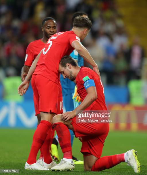 Harry Kane of England John Stones of England during the 2018 FIFA World Cup Russia Round of 16 match between Colombia and England at Spartak Stadium...