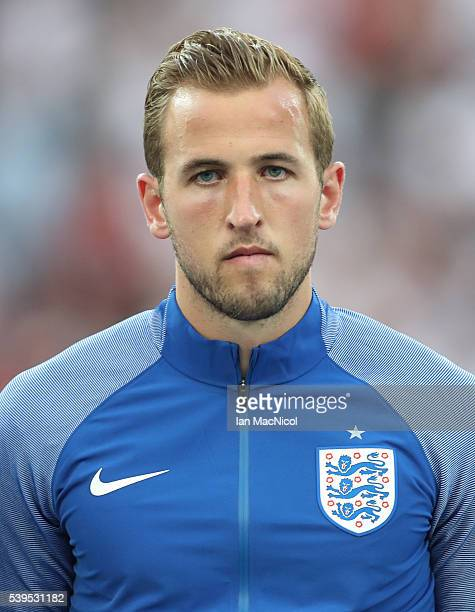 Harry Kane of England looks on during the UEFA EURO 2016 Group B match between England and Russia at Stade Velodrome on June 11 2016 in Marseille...