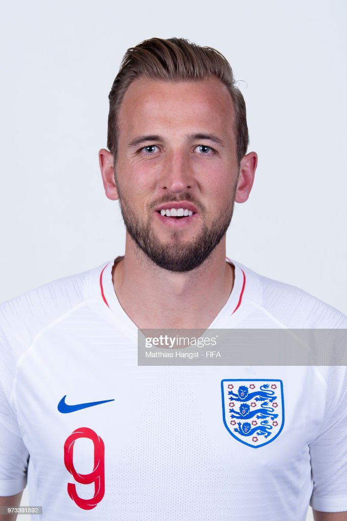 Harry Kane of England poses for a portrait during the official FIFA World Cup 2018 portrait session at on June 13, 2018 in Saint Petersburg, Russia.
