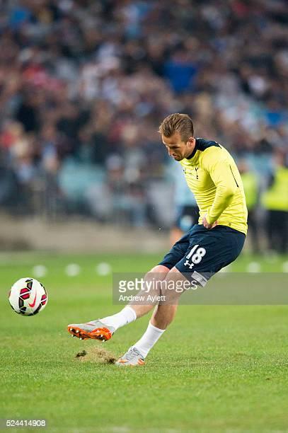 Harry Kane of Hotspur kicks during training session at ANZ stadium in Sydney NSW Australia 30th May 2015 Photo Andrew Aylett