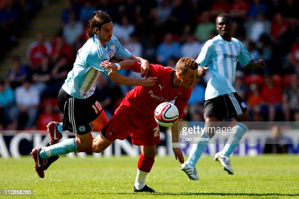 Harry Kane of Leyton Orient in action against George Boyd of Peterborough during the npower League One match between Leyton Orient and Peterborough...