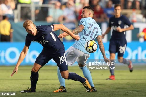 Harry Kane of Tottenham Hotspur and Nicolas Otamendi of Manchester City during the International Champions Cup 2017 match between Manchester City and...