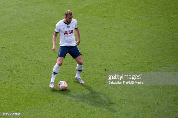 Harry Kane of Tottenham Hotspur control ball during the Premier League match between Crystal Palace and Tottenham Hotspur at Selhurst Park on July 26...