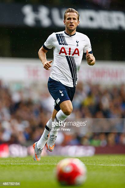 Harry Kane of Tottenham Hotspur during the Barclays Premier League match between Tottenham Hotspur and Everton at White Hart Lane on August 29 2015...