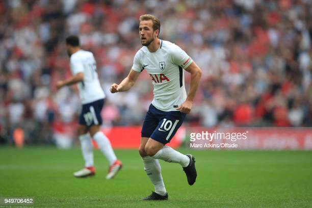 Harry Kane of Tottenham Hotspur during the Emirates FA Cup Semi Final at Wembley Stadium between Manchester United and Tottenham Hotspur on April 21...