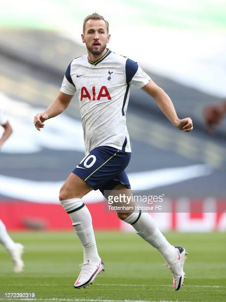 Harry Kane of Tottenham Hotspur during the Premier League match between Tottenham Hotspur and Everton at Tottenham Hotspur Stadium on September 13...
