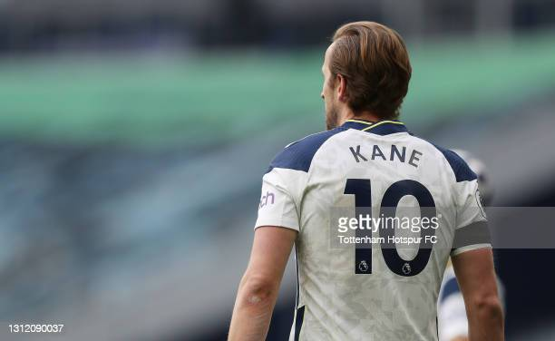Harry Kane of Tottenham Hotspur during the Premier League match between Tottenham Hotspur and Manchester United at Tottenham Hotspur Stadium on April...