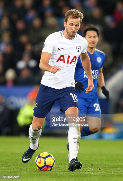 Harry Kane of Tottenham Hotspur during the Premier League match between Leicester City and Tottenham Hotspur at The King Power Stadium on November 28...
