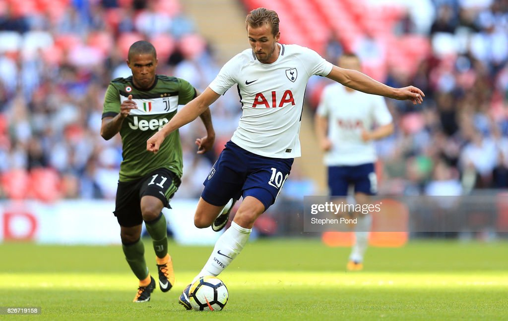 Harry Kane of Tottenham Hotspur during the Pre-Season Friendly match between Tottenham Hotspur and Juventus on August 5, 2017 in London, England.