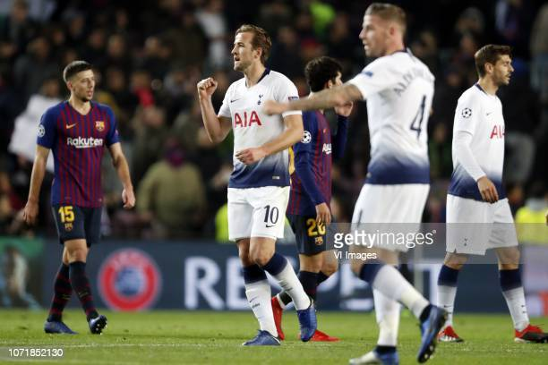 Harry Kane of Tottenham Hotspur FC Toby Alderweireld of Tottenham Hotspur FC during the UEFA Champions League group B match between FC Barcelona and...