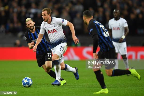 Harry Kane of Tottenham Hotspur in action during the Group B match of the UEFA Champions League between Tottenham Hotspur and FC Internazionale at...