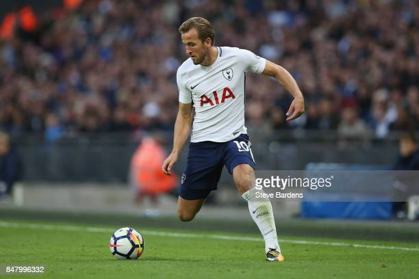 Harry Kane of Tottenham Hotspur in action during the Premier League match between Tottenham Hotspur and Swansea City at Wembley Stadium on September...
