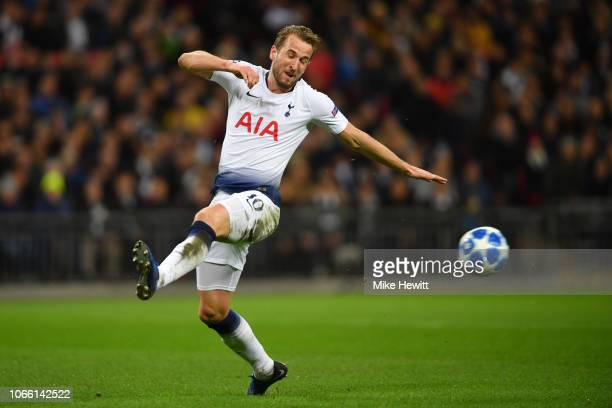 Harry Kane of Tottenham Hotspur in action during the UEFA Champions League Group B match between Tottenham Hotspur and FC Internazionale at Wembley...