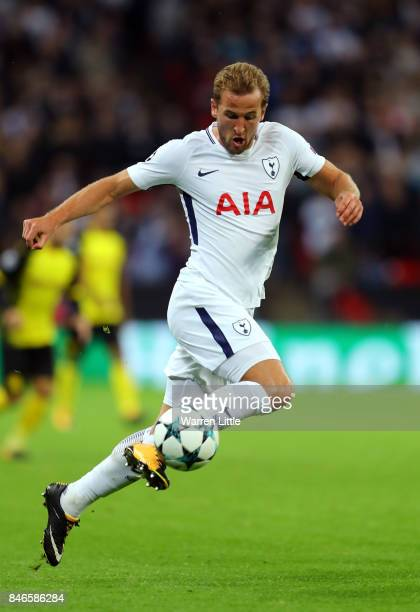 Harry Kane of Tottenham Hotspur in action during the UEFA Champions League group H match between Tottenham Hotspur and Borussia Dortmund at Wembley...