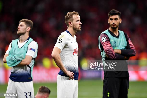 Harry Kane of Tottenham Hotspur looks dejected after the UEFA Champions League Final between Tottenham Hotspur and Liverpool at Estadio Wanda...