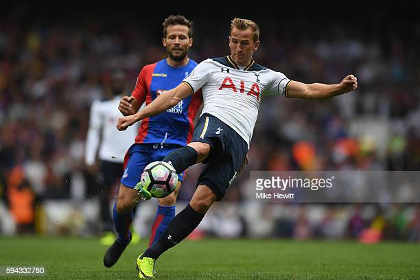 Harry Kane of Tottenham in action during the Premier League match between Tottenham Hotspur and Crystal Palace at White Hart Lane on August 20 2016...