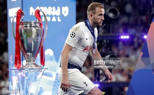 Harry Kane of Tottenham reacts after losing the UEFA Champions League final between Tottenham Hotspur and Liverpool FC at the Wanda Metropolitano...