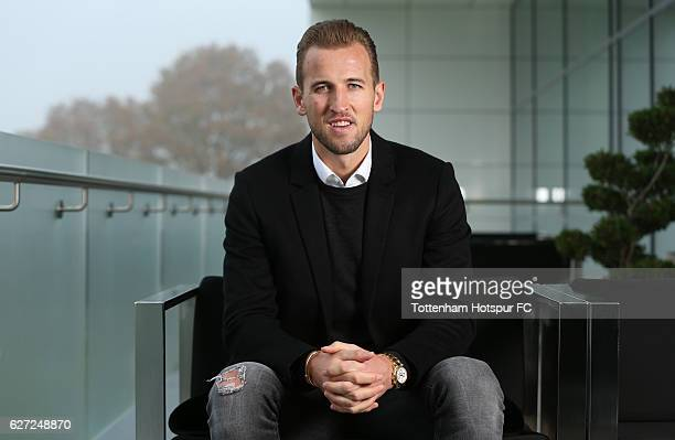 Harry Kane poses after signing a new contract on December 1 2016 in Enfield England