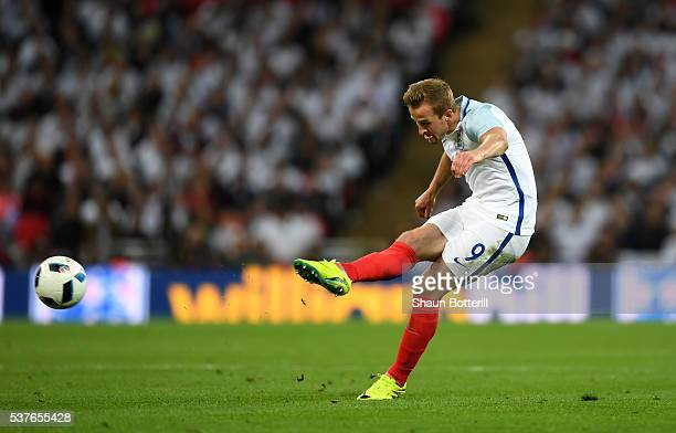 Harry Kanel of England in action during the international friendly match between England and Portugal at Wembley Stadium on June 2 2016 in London...