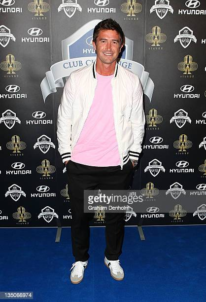 Harry Kewell arrives at the after party following LA Galaxy's match against Melbourne Victory at Club 23 on December 6 2011 in Melbourne Australia