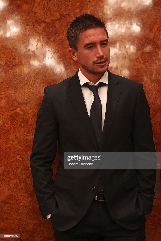 Harry Kewell of Australia attends an Australian Socceroos welcome function at the Sandton Sun Hotel on May 27, 2010 in Sandton, South Africa.