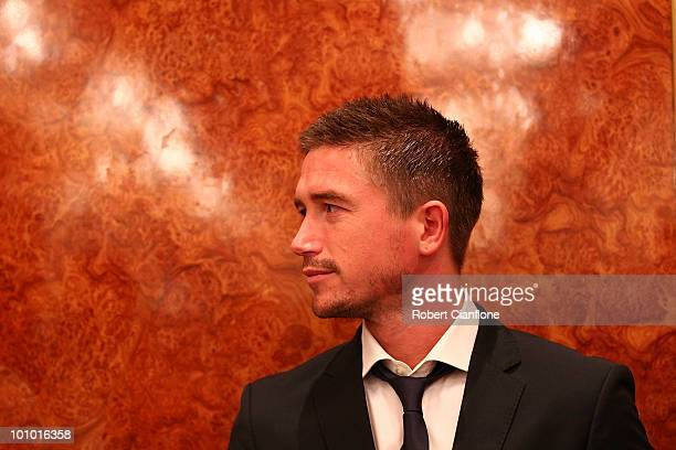 Harry Kewell of Australia is seen during an Australian Socceroos welcome function at the Sandton Sun Hotel on May 27 2010 in Sandton South Africa