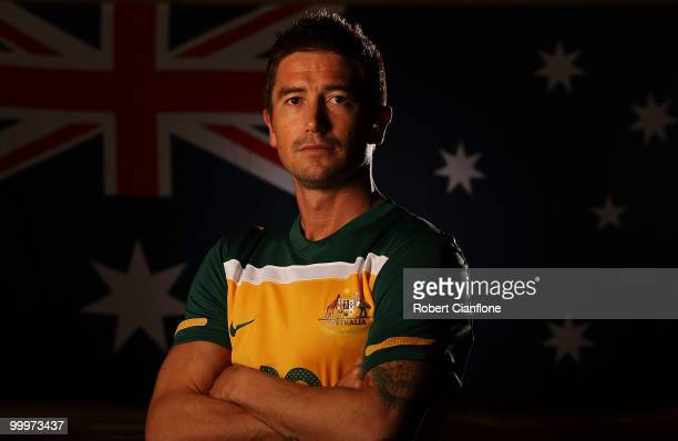 Harry Kewell of Australia poses for a portrait during an Australian Socceroos portrait session at Park Hyatt Hotel on May 19 2010 in Melbourne...