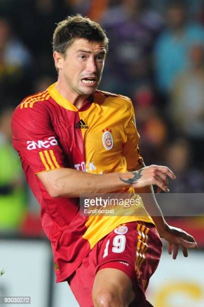 Harry Kewell of Galatasaray during the Turkish Super League match between Fenerbahce and Galatasaray held on October 25 2009 at Sukru Saracoglu...