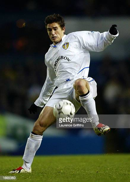 Harry Kewell of Leeds United in action during the FA Barclaycard Premiership game between Leeds United and Bolton Wanderers on November 17 2002 at...