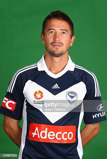 Harry Kewell of the Melbourne Victory poses during a Melbourne Victory ALeague headshots session at AAMI Park on September 14 2011 in Melbourne...
