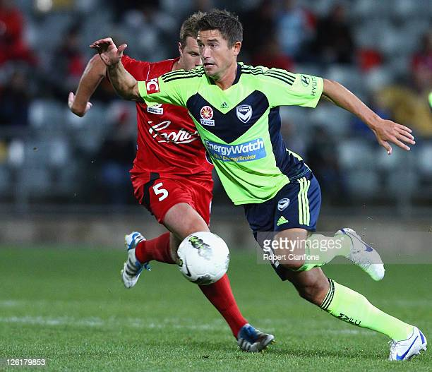 Harry Kewell of the Victory controls the ball during the A-League pre-season match between Adelaide United and the Melbourne Victory at Hindmarsh...