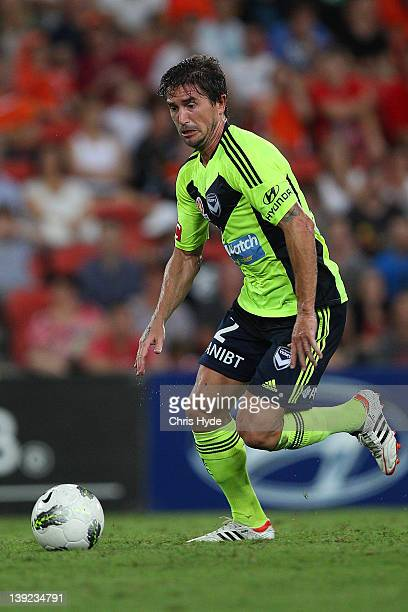 Harry Kewell of the Victory in action during the round 20 ALeague match between the Brisbane Roar and the Melbourne Victory at Suncorp Stadium on...