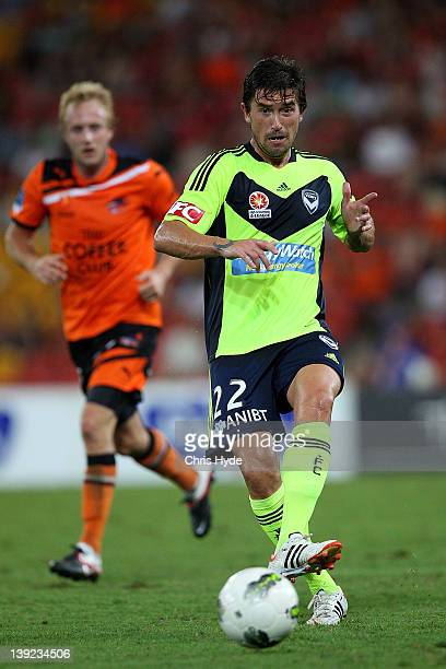 Harry Kewell of the Victory kicks the ball during the round 20 ALeague match between the Brisbane Roar and the Melbourne Victory at Suncorp Stadium...